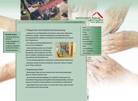 eines von drei Layouts für die Homepage des Seniorenhauses Odenwald