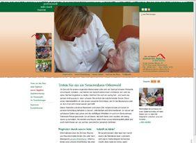 das umgesetzte Layout der Homepage für das Seniorenhaus Odenwald