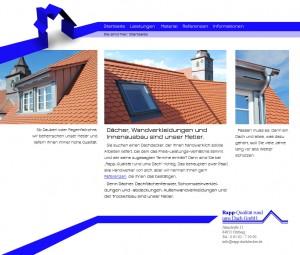 Webseite Rapp Dachdecker