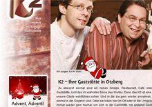 Weihnachtsmann auf der Webseite des K2