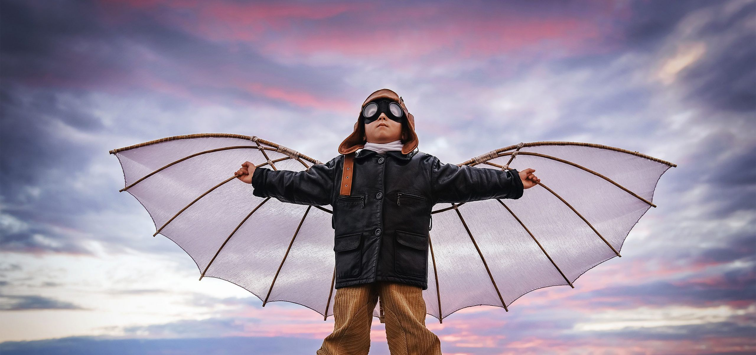Kind mit Flügeln