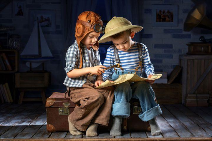Kinder auf Expedition