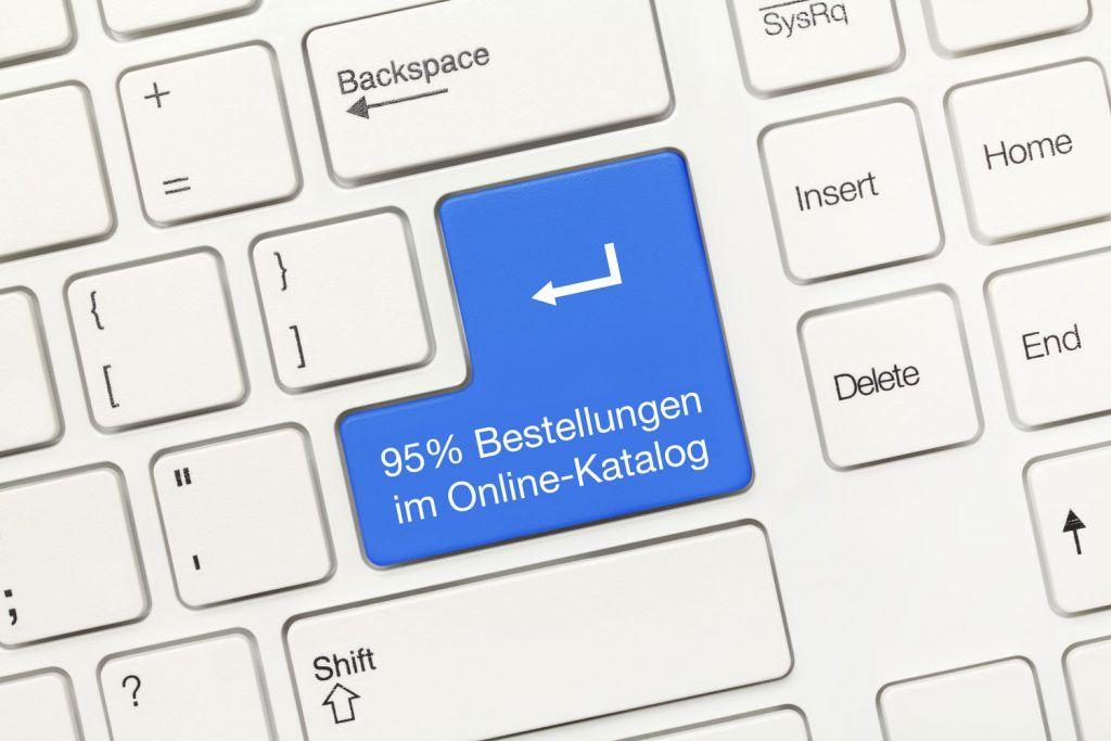 95% wird online bestellt